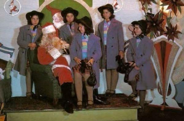 Quintillizas y Santa Claus