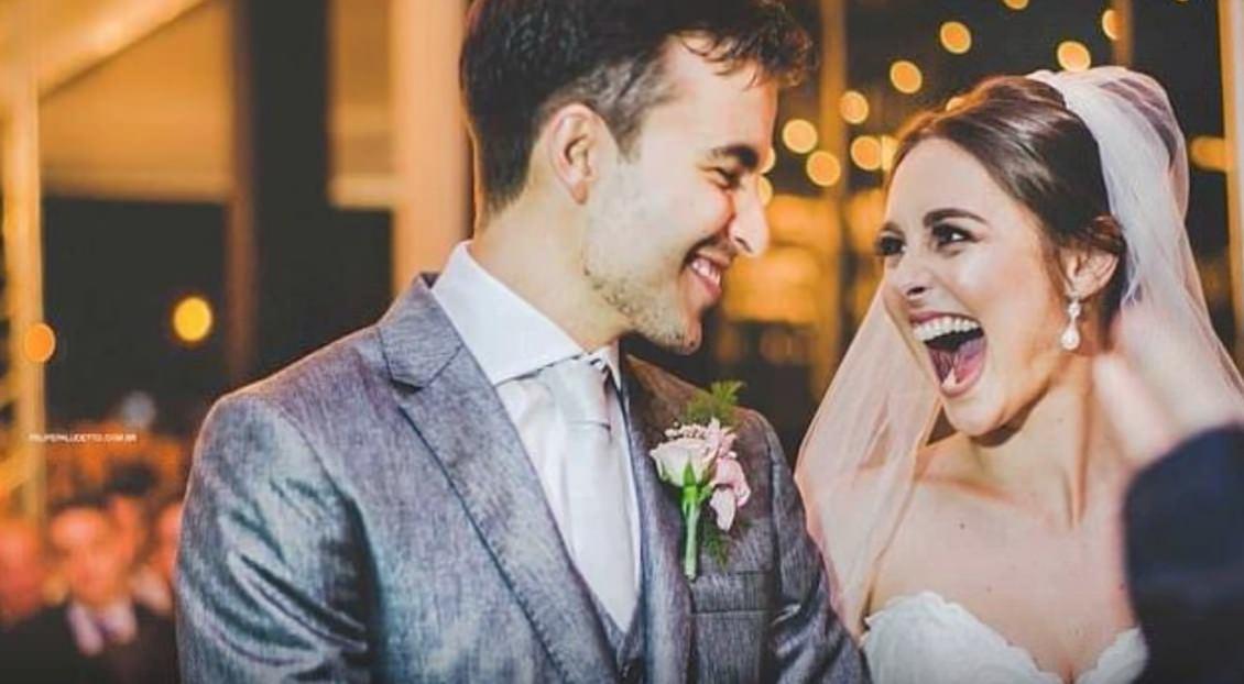 pareja de novios en boda