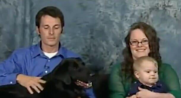 famila con perro
