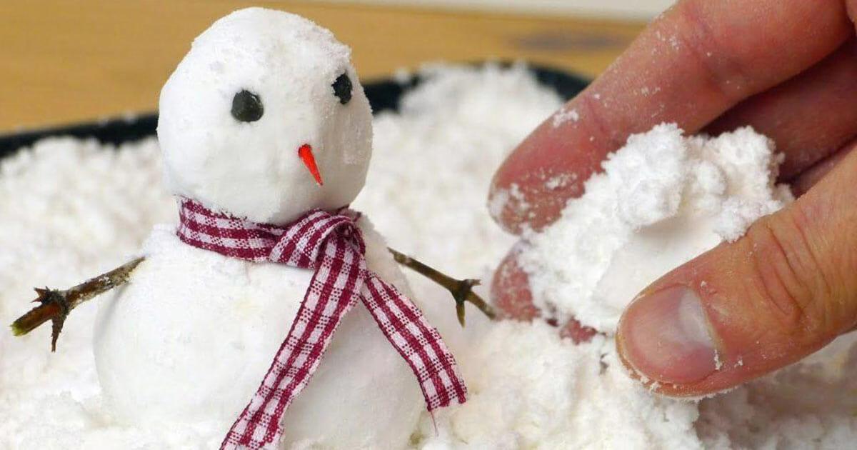 truco para hacer nieve