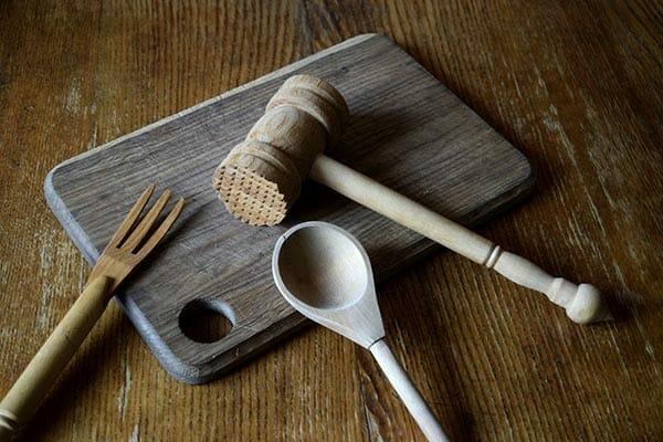 träredskap, skärbräda i trä