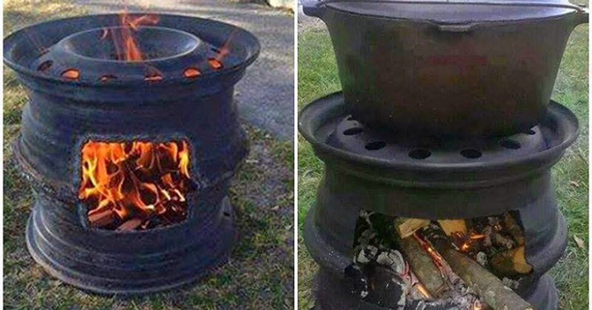 How To Make Your Own Fire Pit BBQ Out Of Car Wheel Rims - Show wheels on your car