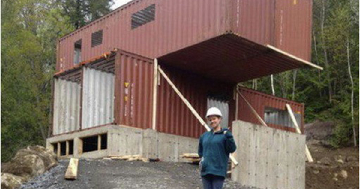 She Created Her Dream House With Four Shipping Containers