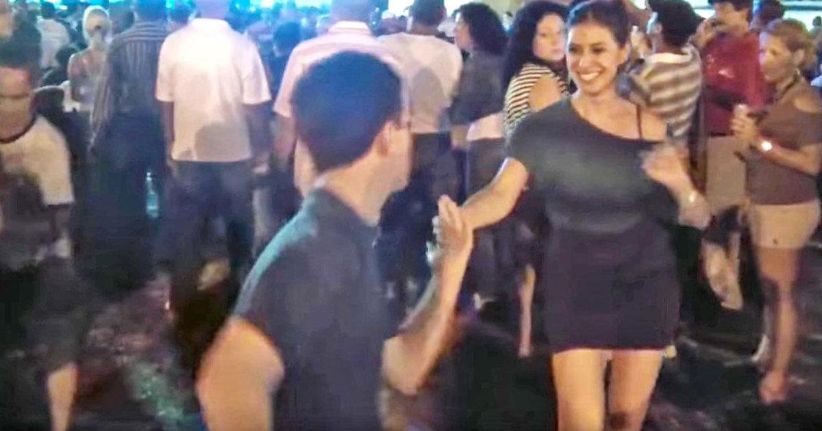 Man strips wife in public