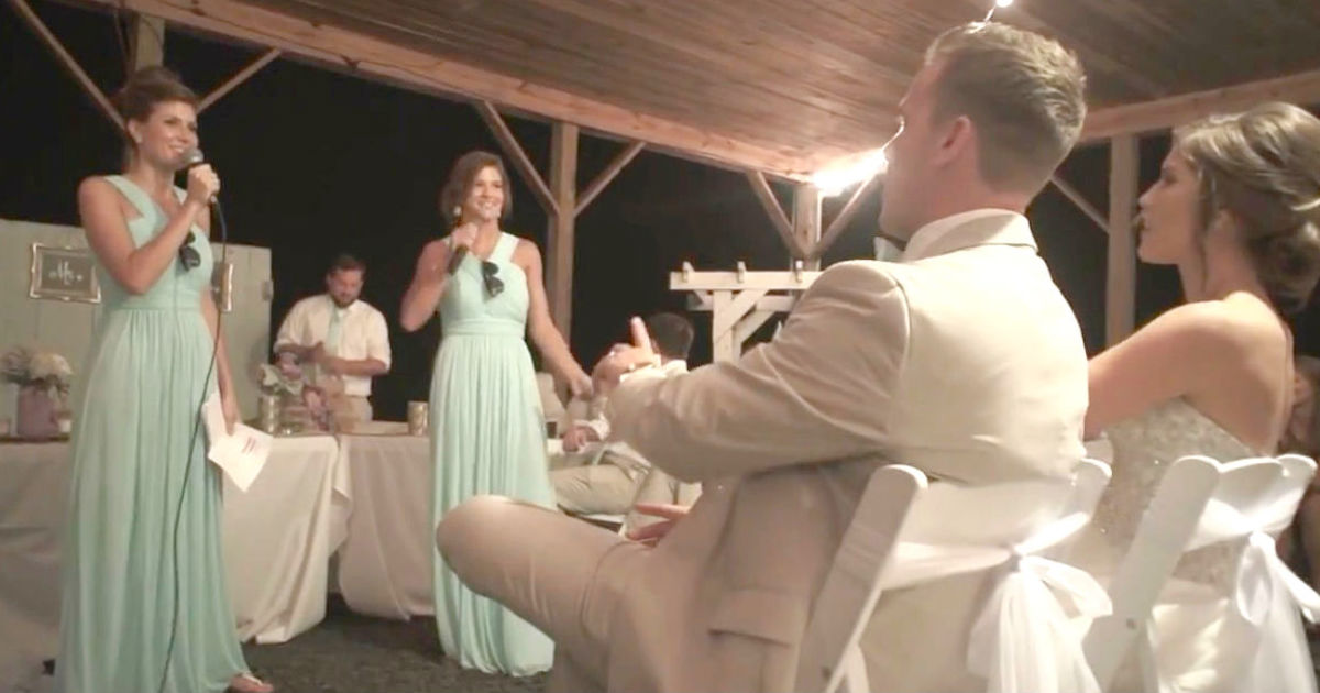 Brides Sisters Perform Hilarious Medley In Place Of The Usual Toast