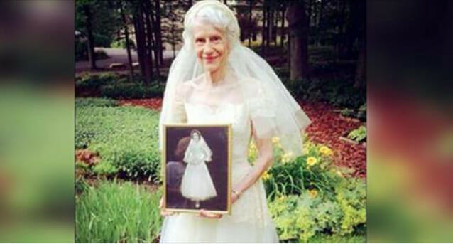 Grandmother Wears Her Wedding Dress After 63 Years The Reflection