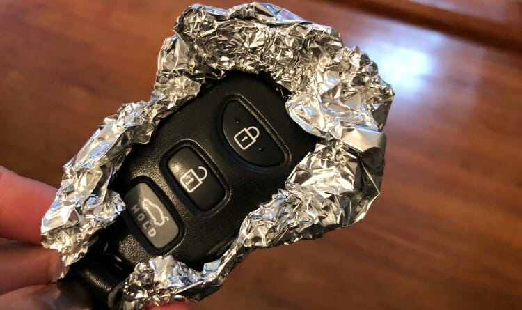 Image result for aluminium foil car key