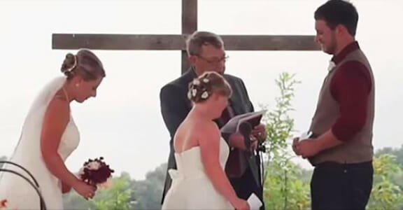 Groom admits he loves someone else — points to a guest and
