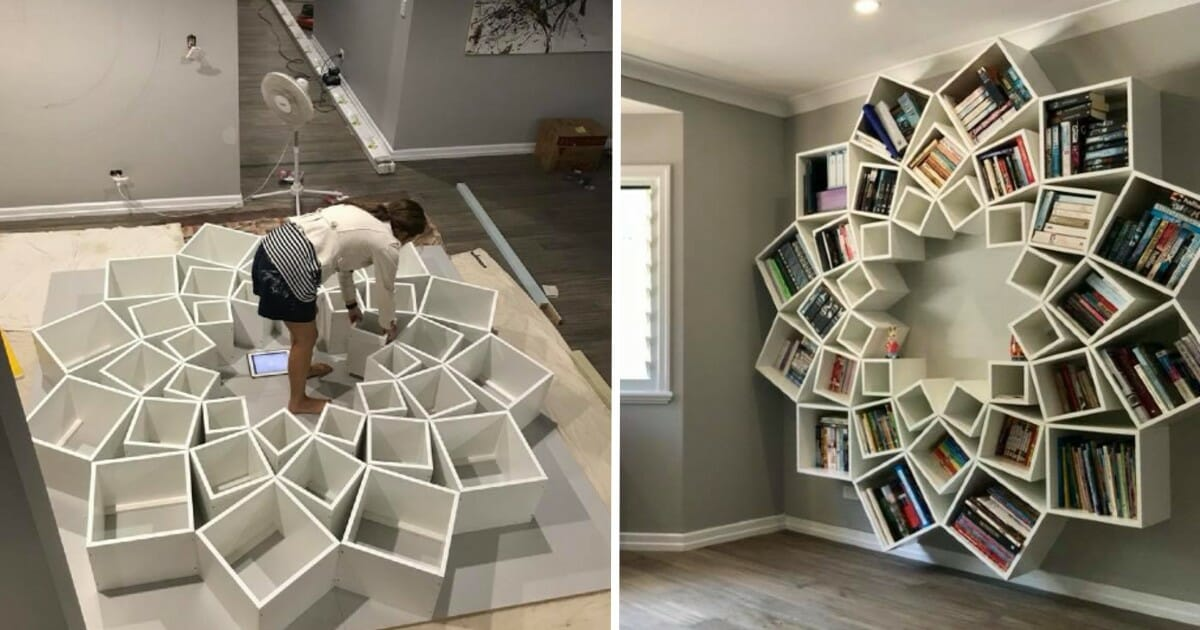 Couple S Incredible Bookshelf Is Straight Out Of An Interior