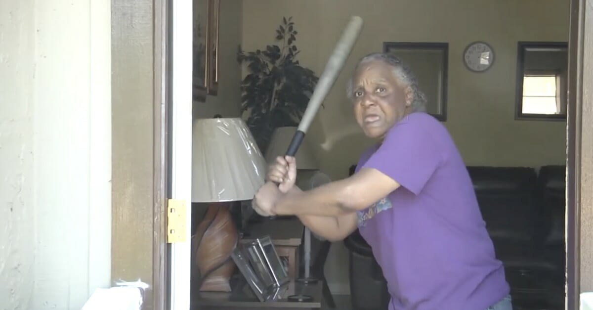 65-Year-Old Lady Who Used To Play Softball Bashes Naked -1938