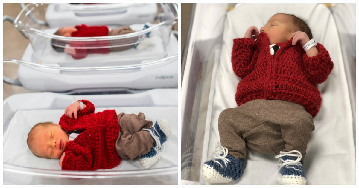 Hospital Honors Mr Rogers On World Kindness Day By Dressing Babies In His Iconic Sweaters