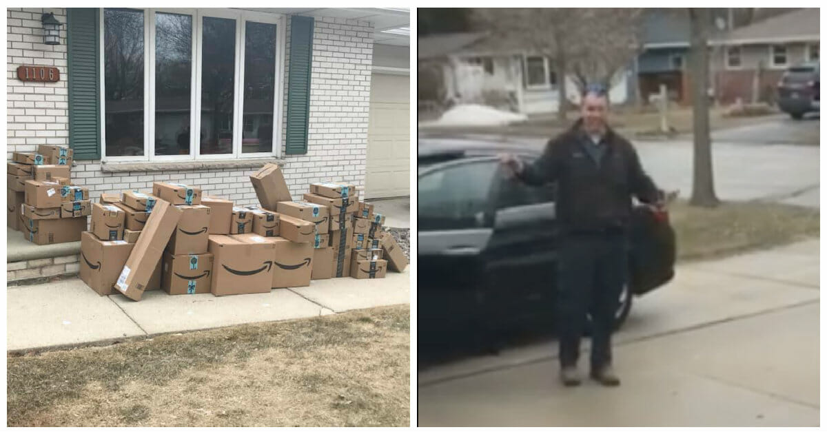 Woman saves up Amazon boxes for six months, then unleashes ...