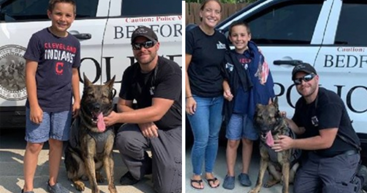 Boy, 10, raises more than $315,000 to get bulletproof vests for police dogs