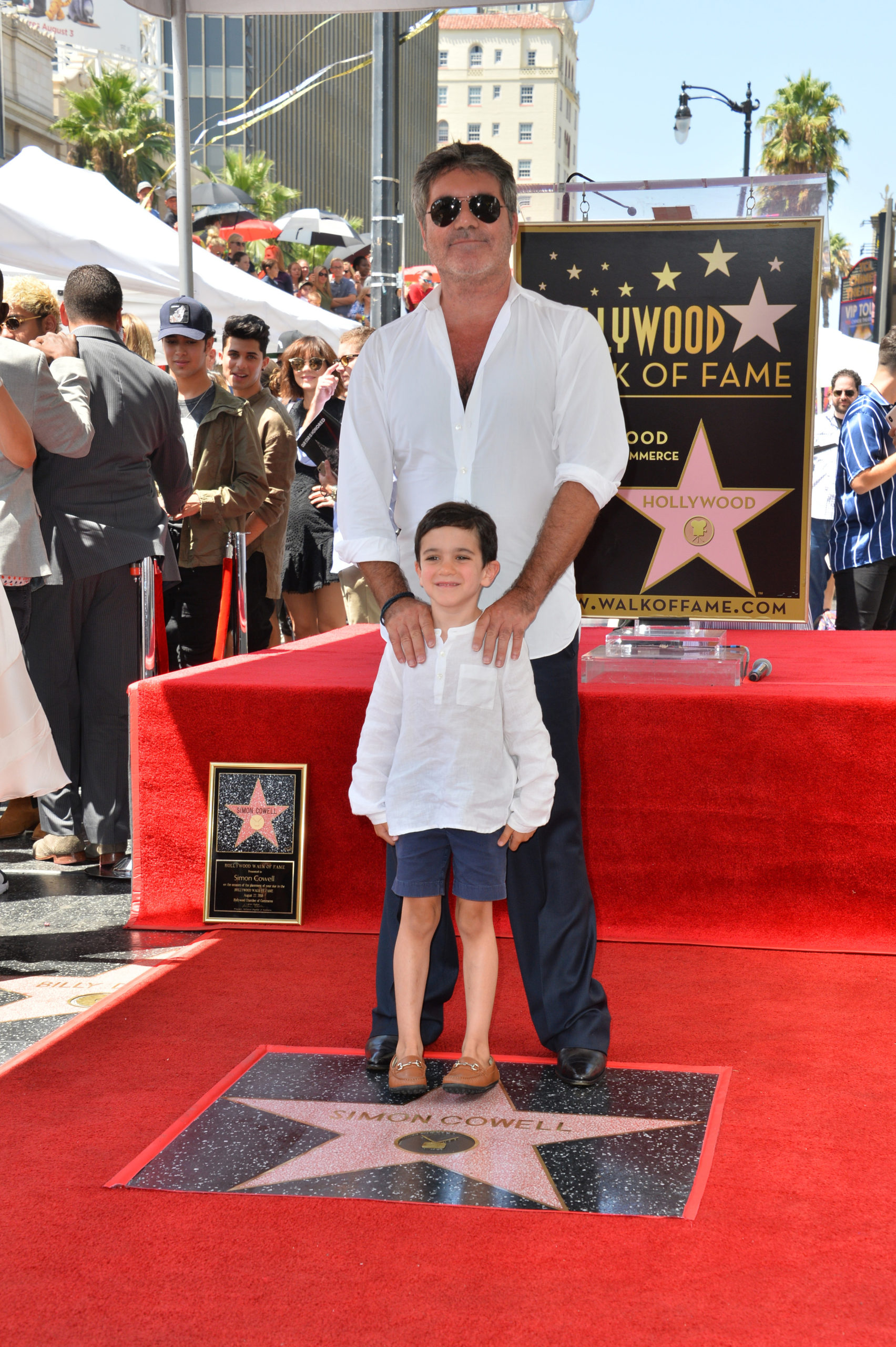 Simon Cowell and son Eric