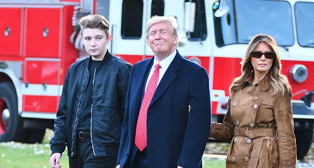 Melania Trump, Donald Trump, Barron Trump