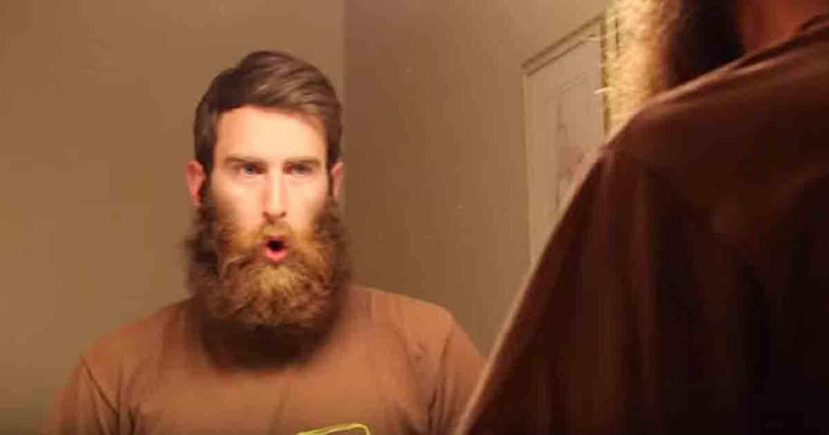 hur rakar man skägget
