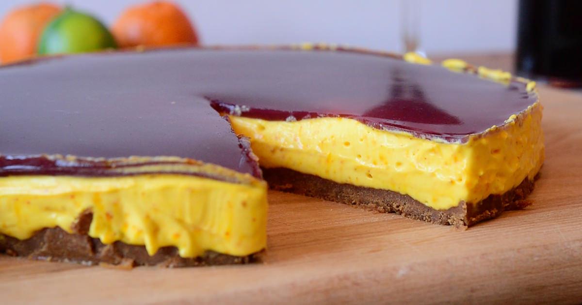 julig cheesecake med pepparkaksbotten