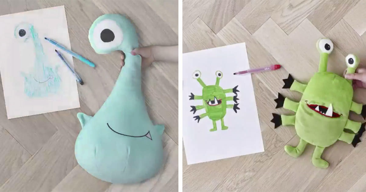 Ikea förvandlar teckningarna till riktiga gosedjur och skänker pengar till  utsatta barn. bbe9d178177c2