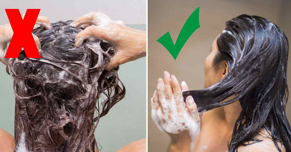 ta hand om sitt hår