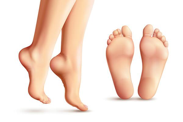 gå på tå, övning, fötter