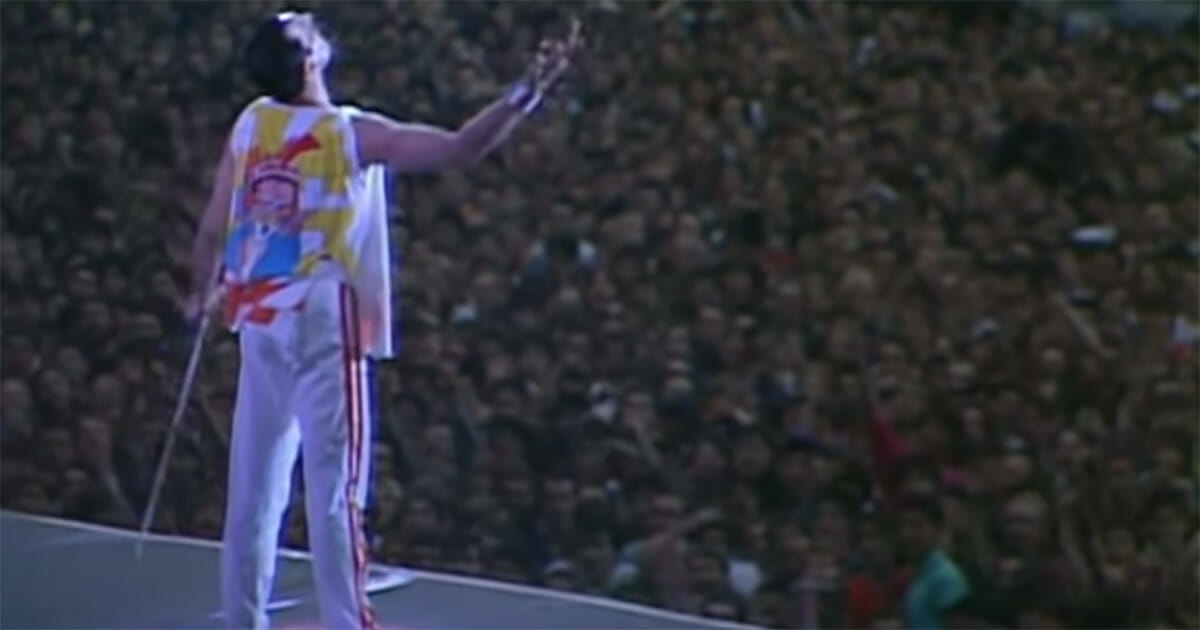 freddie mercury, queen, love of my life, wembley