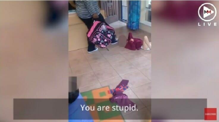 Dold kamera fångar barnflicka när hon slår bebis med funktionshinder i huvudet – för att hon gjort i blöjan