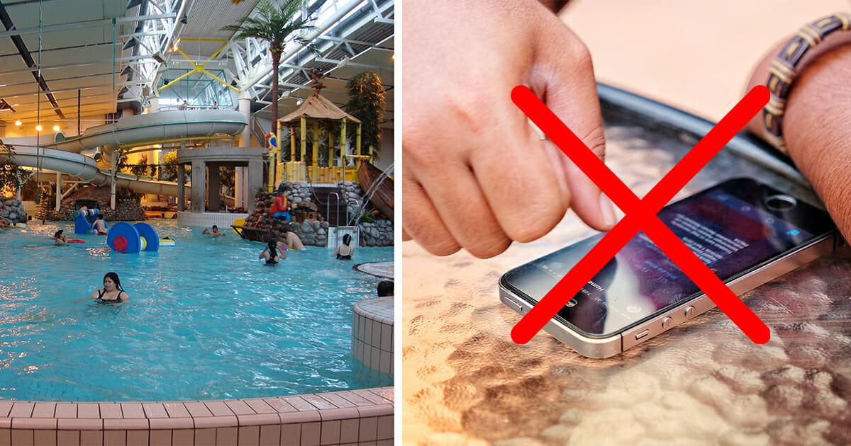 Badhus förbjuder mobiltelefoner och surfplattor.
