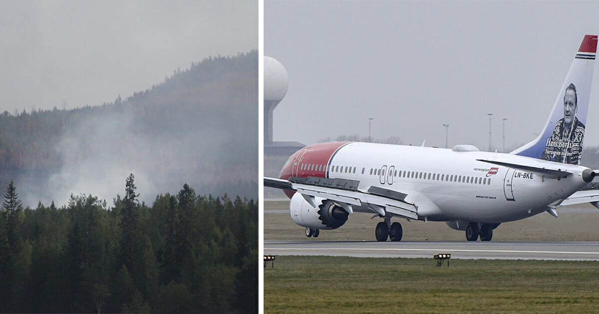 Skogsbrand vid Arlanda