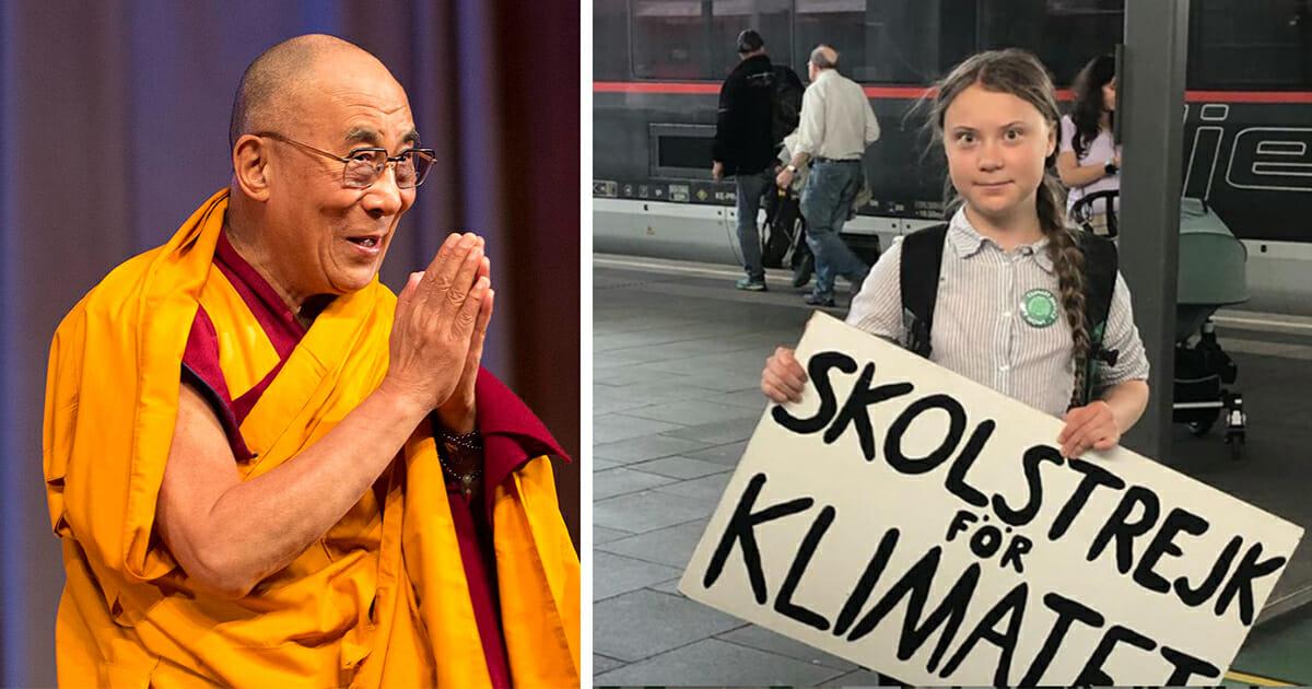 Dalai Lama hyllar Greta Thunberg