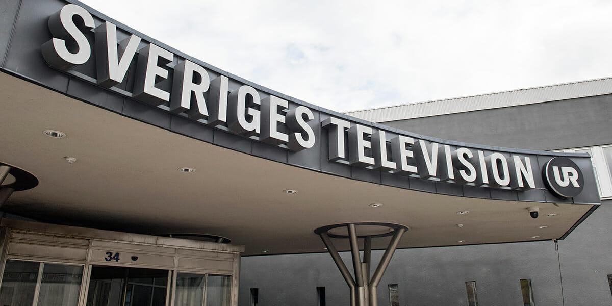 STOCKHOLM 20170511 Exteriör på Sveriges Television, SVT och Utbildningsradion, UR Foto: Jessica Gow / TT