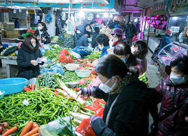 wuhan, marknad, kina