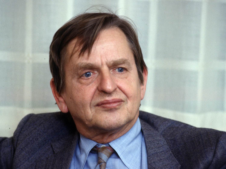 Statsminister Olof Palme.