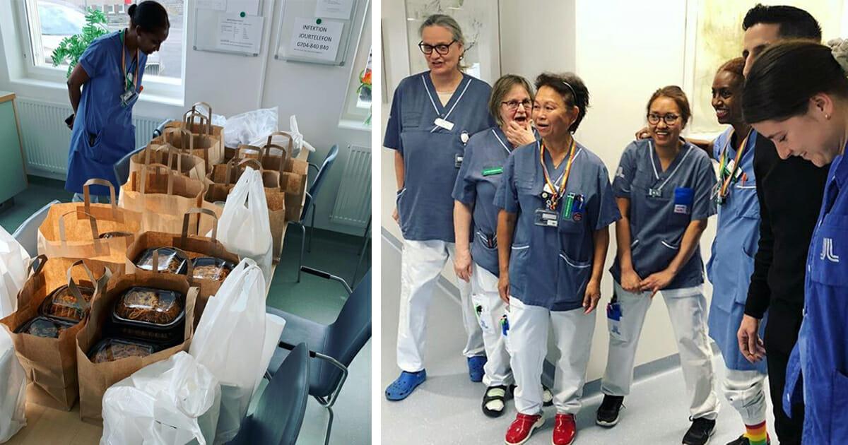 Restaurangernas varma gest: Delar ut gratis lunch till sjukhuspersonal