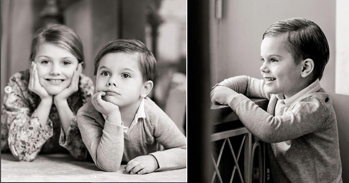 Nya bilden på lillprinsen Oscar – fyller fyra år idag!