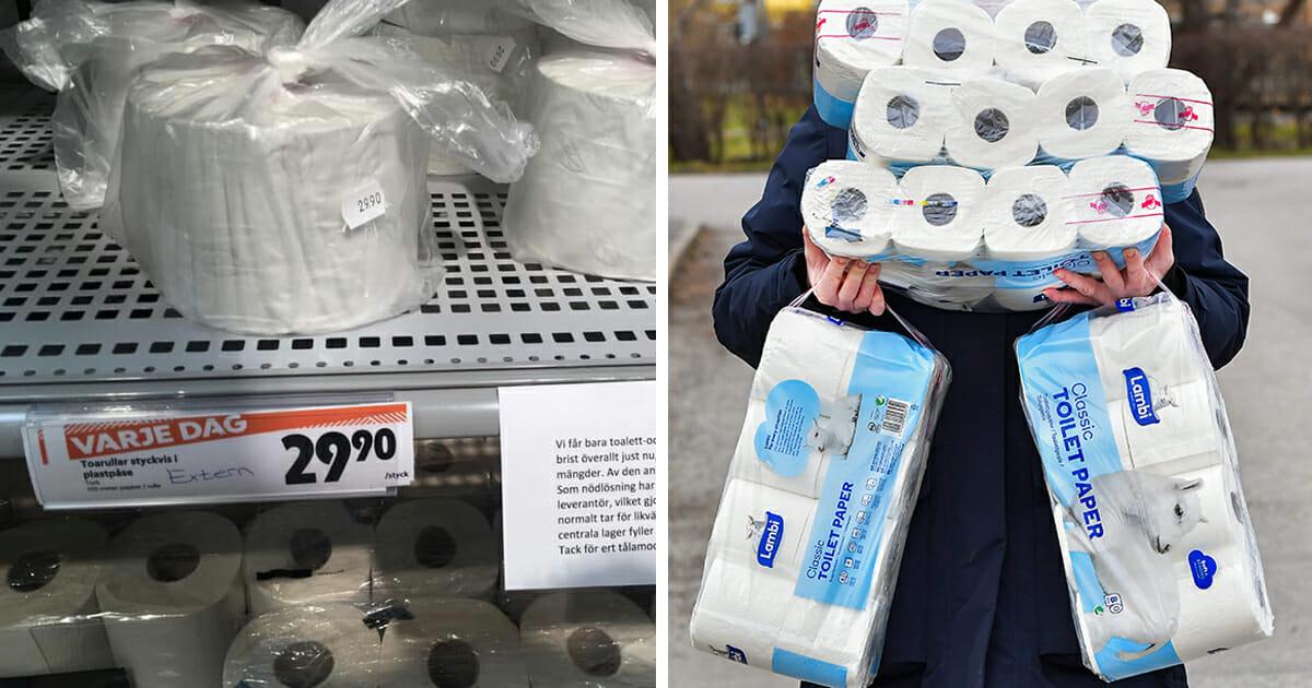 """Kundernas vrede – ICA-butik säljer toapapper per rulle: """"De kapitaliserar på folks desperation"""""""
