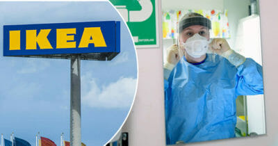 Ikea, corona, vårdpersonal