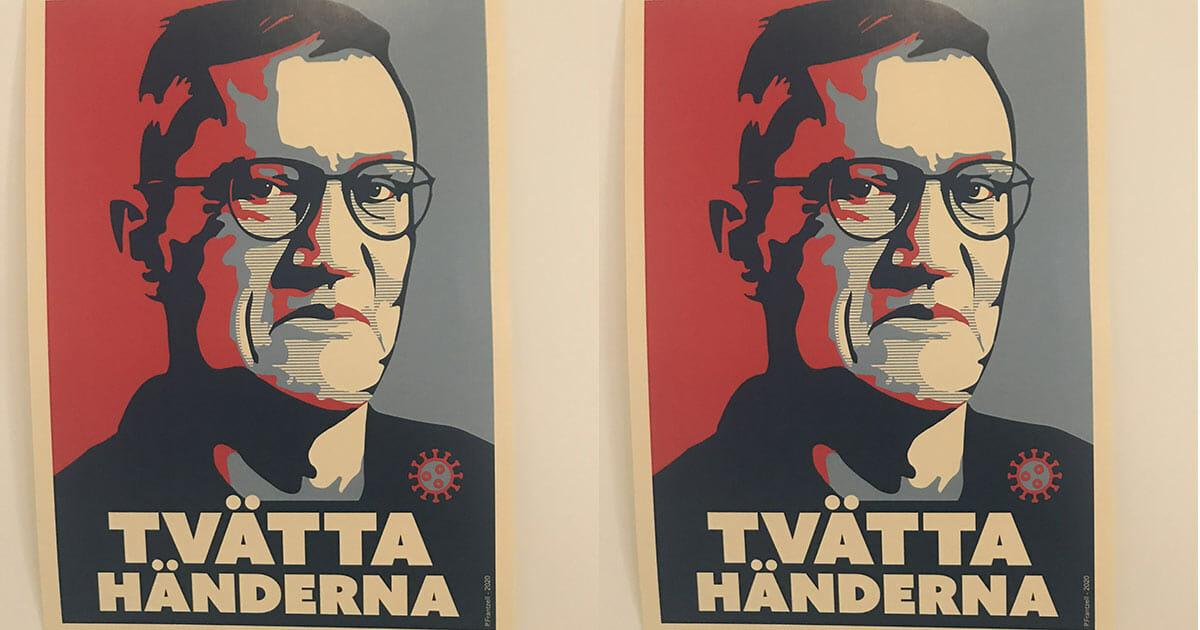 Anders Tegnell Hyllas Som Hjalte Nu Blir Han Forevigad Med Posters Och Tatueringar