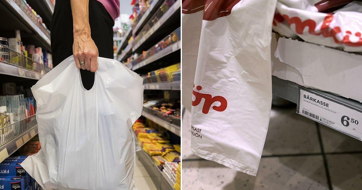 Nya kravet: Avskaffa skatten på plastpåsar – omedelbart