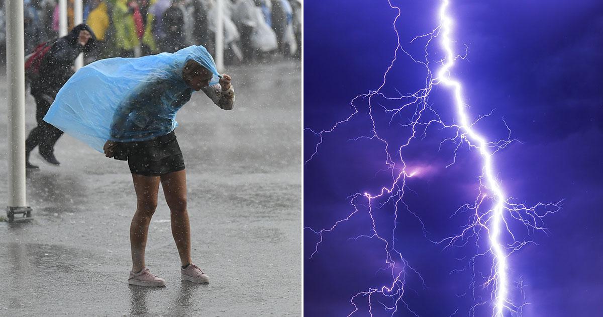regn, oväder, åska