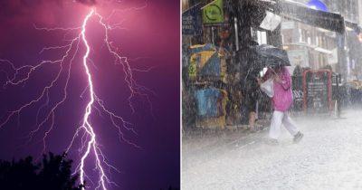 kraftig åska, smhi, varning, oväder