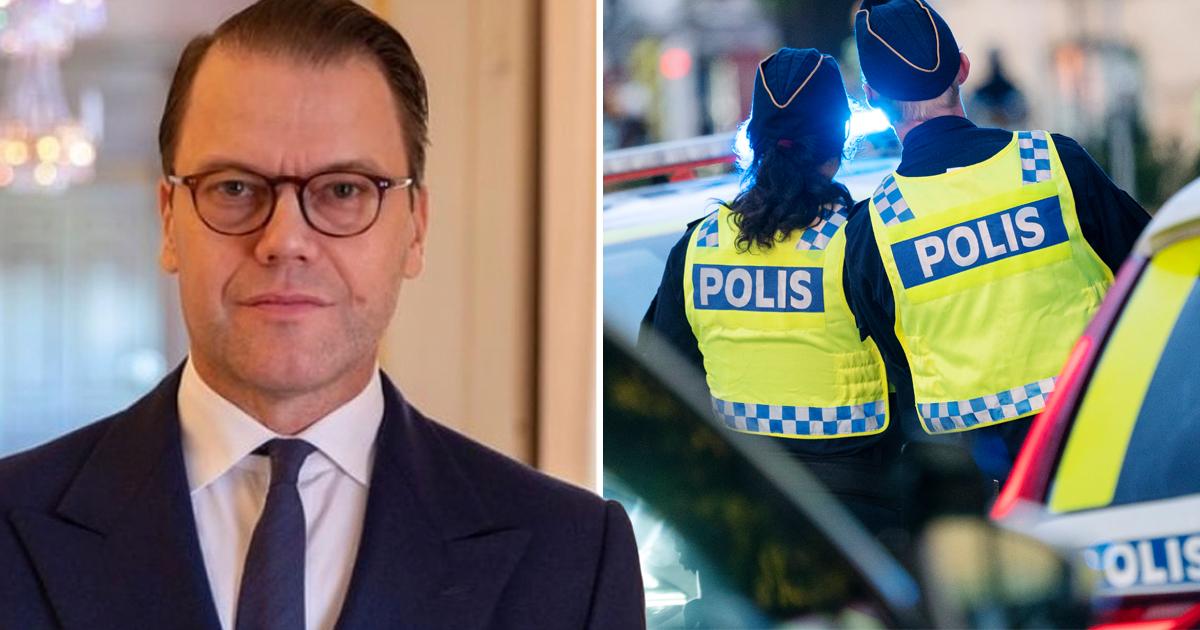 """Prins Daniels starka hyllning – till polisen: """"Fylls alltid med beundran och respekt för de poliser vi möter"""""""