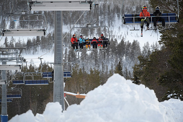 skidåkare, sportlov