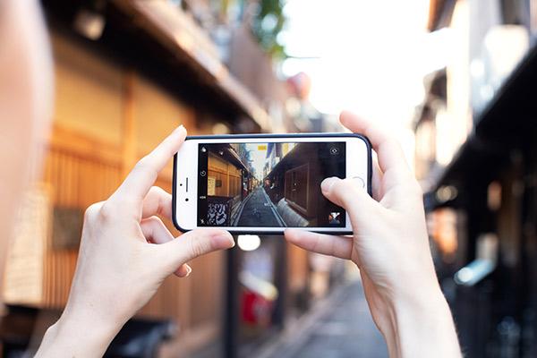 filma, fotografera, mobiltelefon