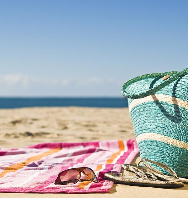 Handduk, strand