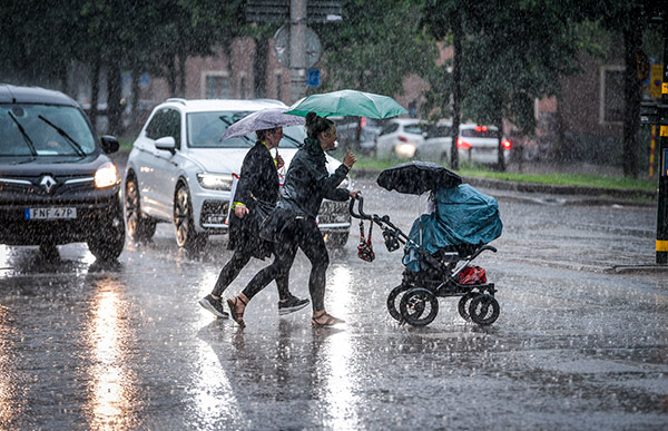 regn, oväder