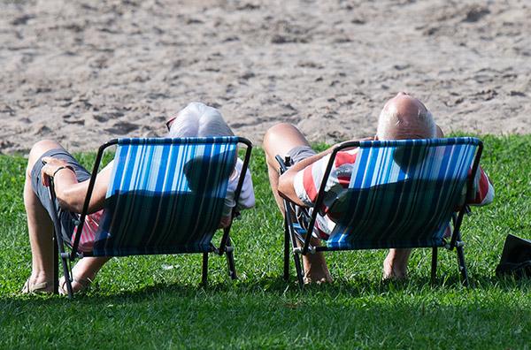 sommar, sol, värme, solstol
