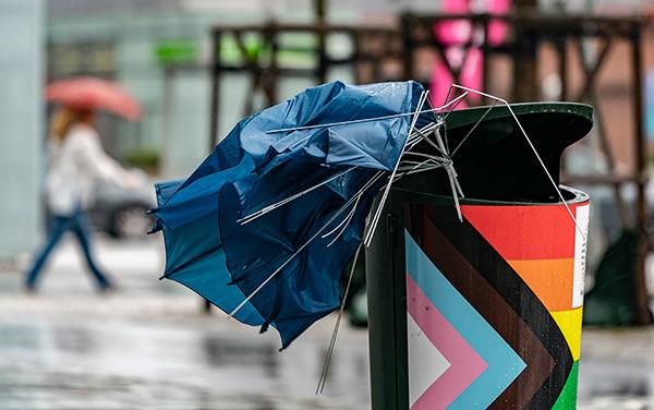 paraply, oväder