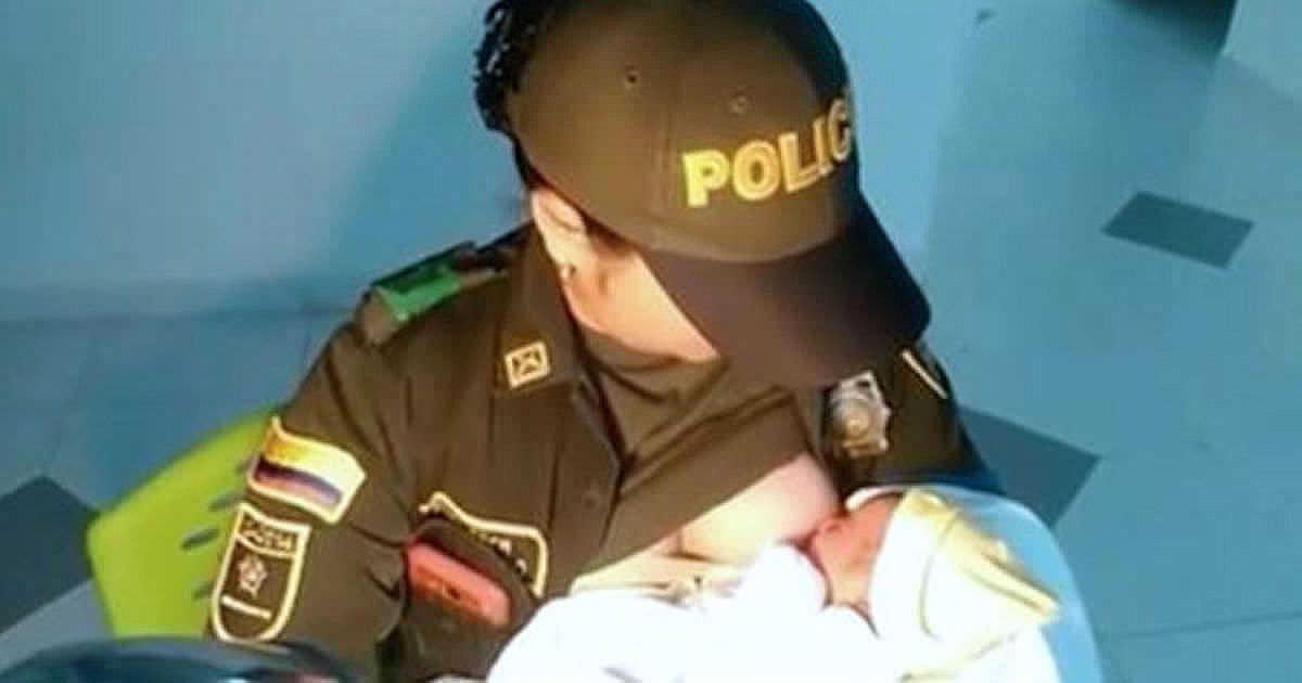 Dziecko nakarmione przez policjantkę