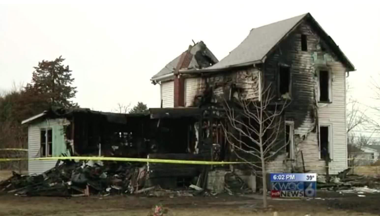 Casa dopo un incendio