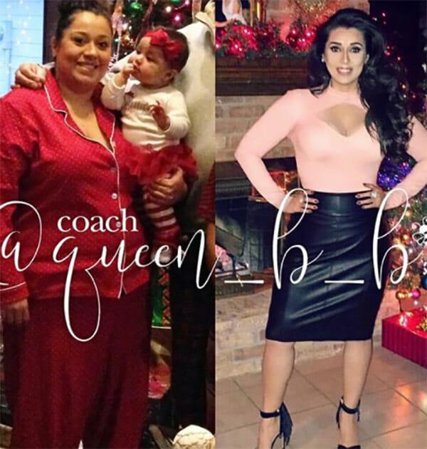 La grafica mostra due foto: sulla sinistra obesa Betsy qualche anno fa, sulla destra sottile Betsy ora